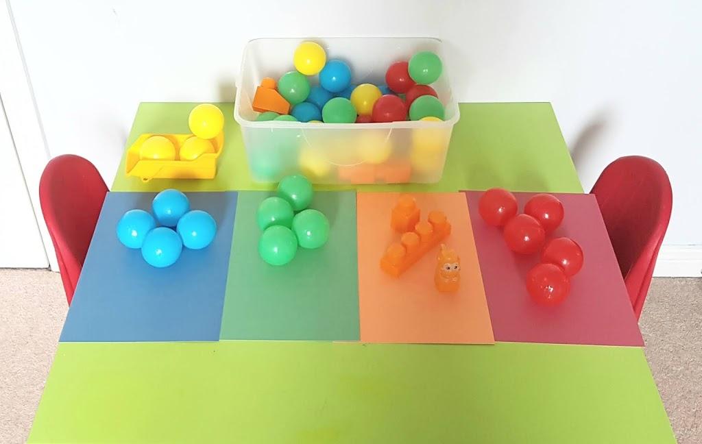 Indoor Activities- Colour Sorting