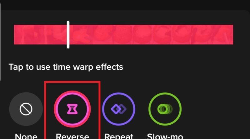 How to reverse TikTok Video