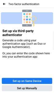 Facebook Code Generator App