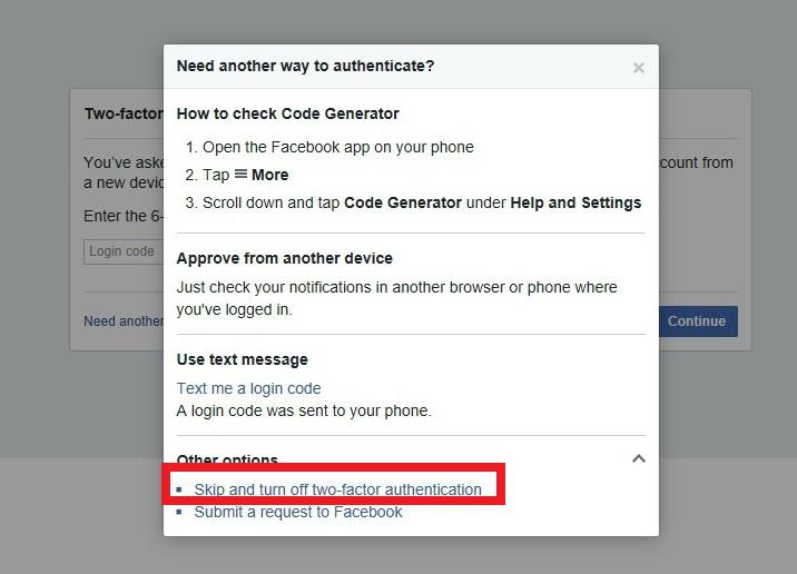 Facebook Code Generator Bypass