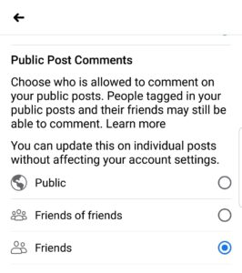 How to disable comments on Facebook